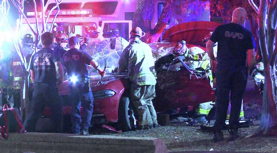 A man is in serious condition following a car crash early Sunday morning on San Antonio's East Side, police said. Photo: 21 Pro Video