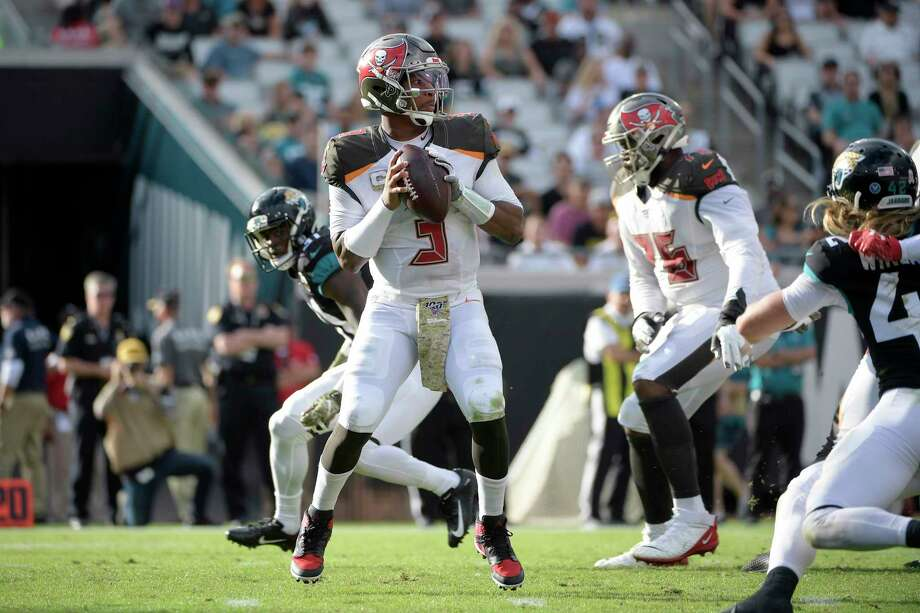 PHOTOS: Texans vs. Titans Tampa Bay Buccaneers quarterback Jameis Winston (3) sets up to throw a pass during the second half of an NFL football game against the Jacksonville Jaguars Sunday, Dec. 1, 2019, in Jacksonville, Fla. (AP Photo/Phelan M. Ebenhack) >>>See more photos from the Texans' pivotal win Sunday ... Photo: Phelan M. Ebenhack, Associated Press / Copyright 2019 The Associated Press. All rights reserved