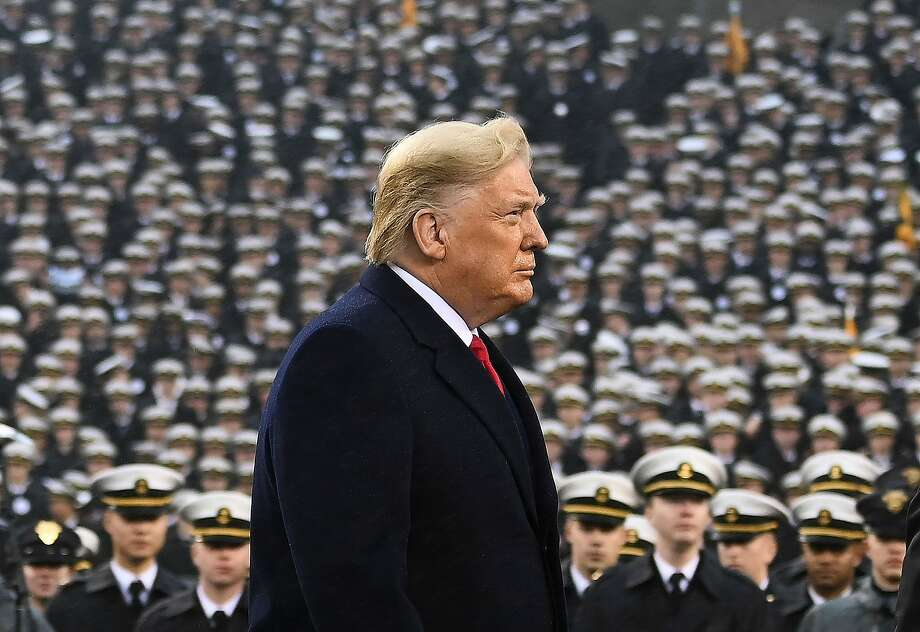 President Donald Trump attends the Army-Navy football game in Philadelphia, Pennsylvania on December 14, 2019. Photo: Andrew Caballero-reynolds, AFP Via Getty Images