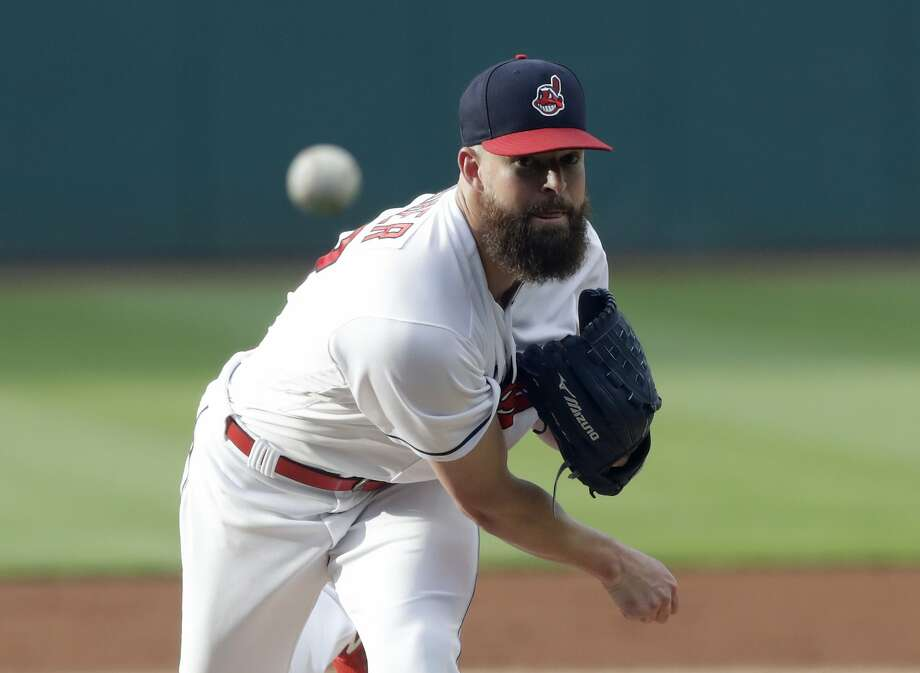 Starting pitcher Corey Kluber heads to the Texas Rangers after going 98-58 with a 3.16 ERA in nine seasons in Cleveland. Photo: Tony Dejak / Associated Press 2018