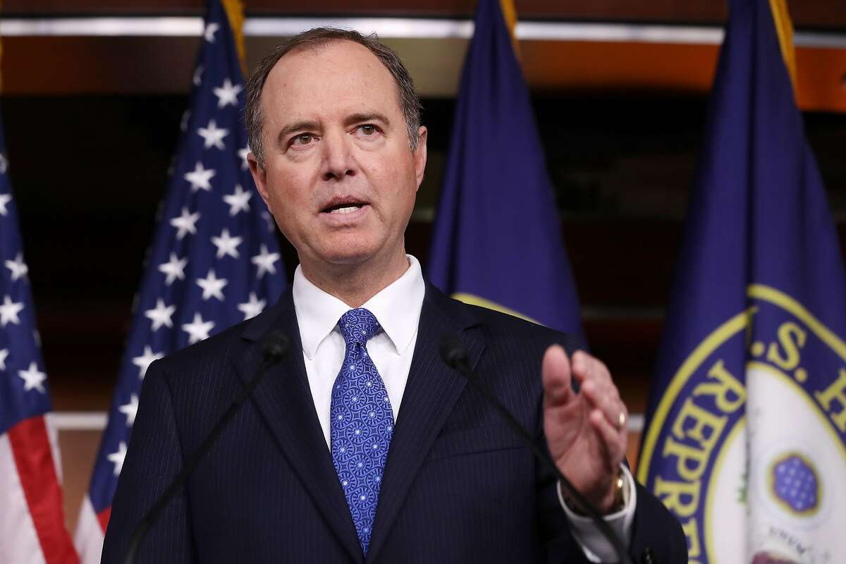 WASHINGTON, DC - DECEMBER 03: House Intelligence Committee Chairman Adam Schiff (D-CA) holds a news conference shortly after the release of the committee's Trump-Ukraine Impeachment Inquiry Report at the U.S. Capitol December 03, 2019 in Washington, DC. The report says the committee's investigation 'uncovered a months-long effort by President Trump to use the powers of his office to solicit foreign interference on his behalf in the 2020 election.' (Photo by Chip Somodevilla/Getty Images)