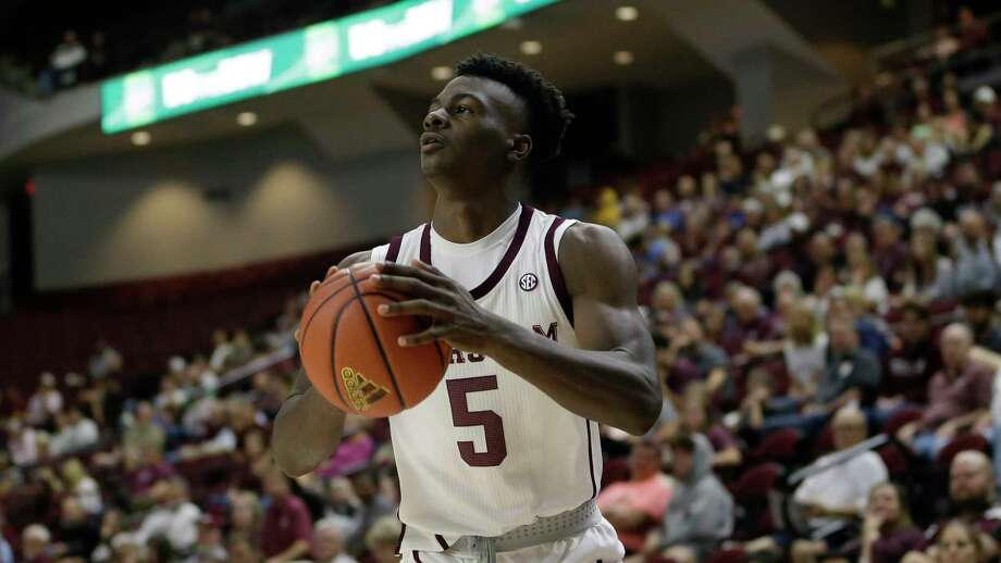 Freshman Emanuel Miller scored 20 points and Texas A&M defeated Texas A&M Corpus-Christi 63-60 on Sunday. Photo: Sam Craft, Associated Press / Copyright 2019 The Associated Press. All rights reserved.