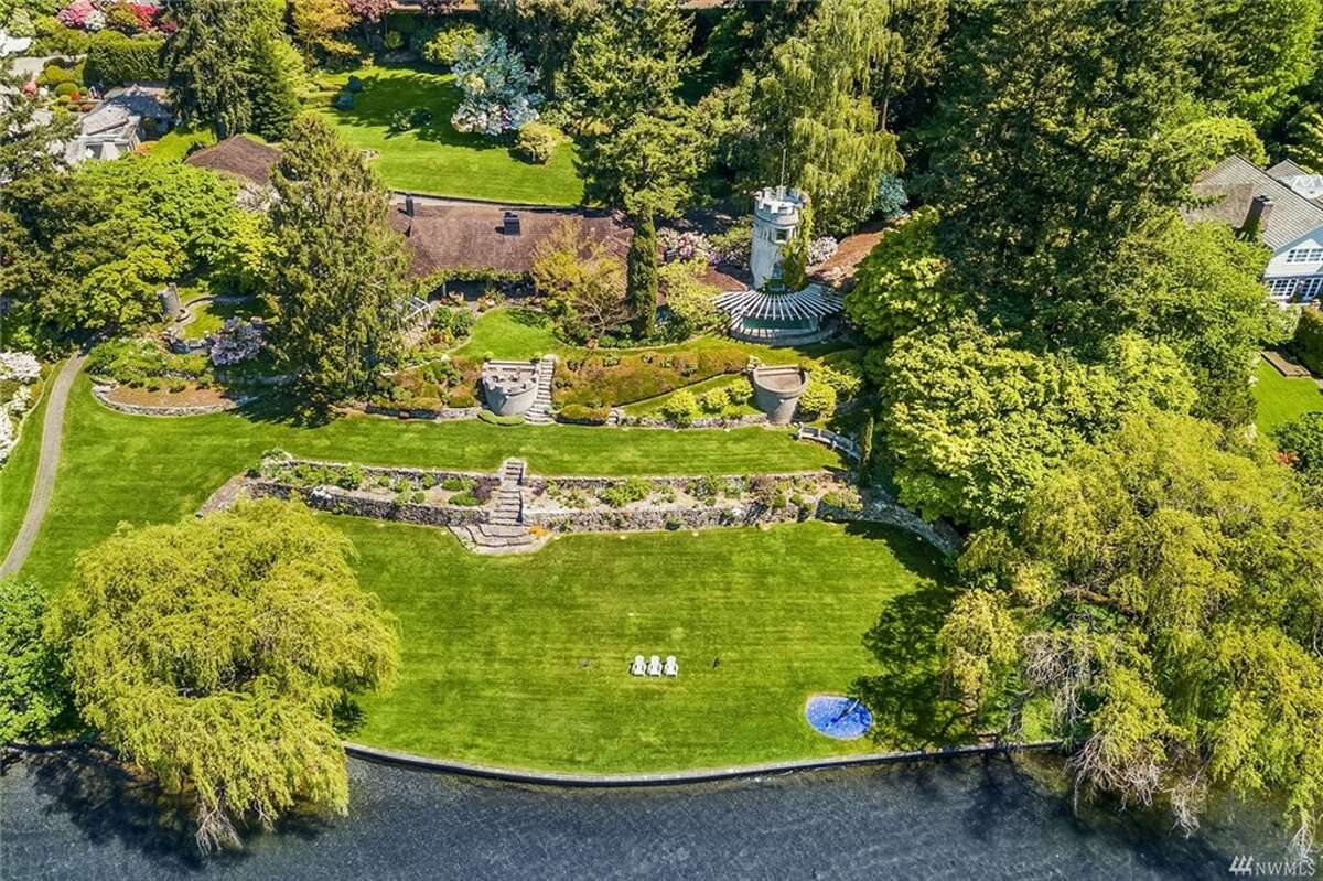 In Medina, this waterfront home of 5,350 square feet sold for $30M, making it #2 in the biggest sales of the year.