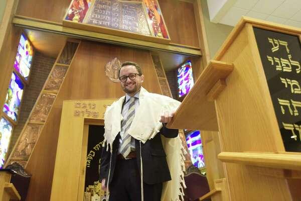 Rabbi Roy Feldman poses for a photo at Congregation Beth Abraham-Jacob on Tuesday, Dec. 10, 2019, in Albany, N.Y. (Paul Buckowski/Times Union)