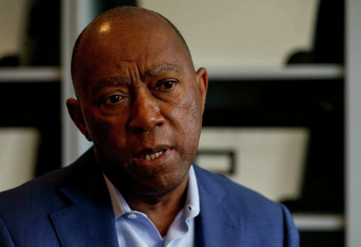 Mayor Sylvester Turner chatted with the Houston Chronicle to discuss his plans for the next four years, following his re-election Sunday afternoon Sunday, Dec. 15, 2019, in Houston.