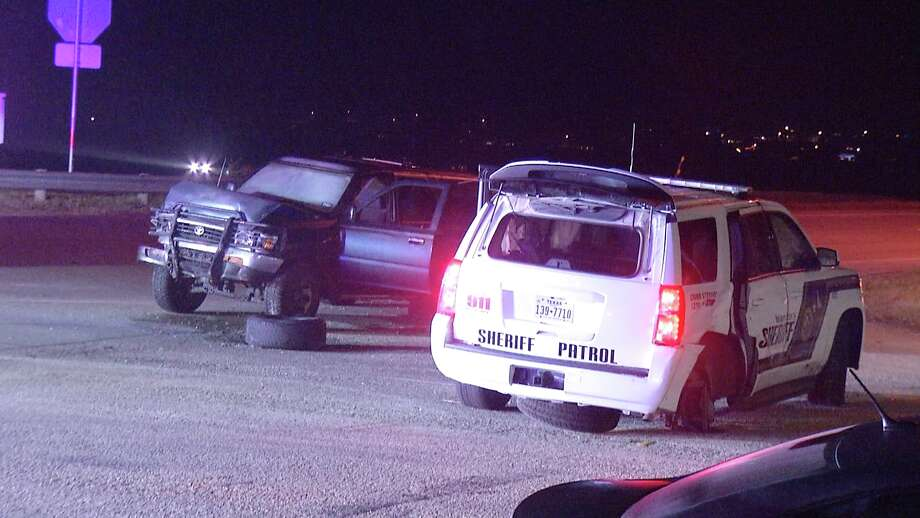 BSCO is investigating a crash after a suspected DWI driver hit a deputy's patrol vehicle. Photo: Ken Branca