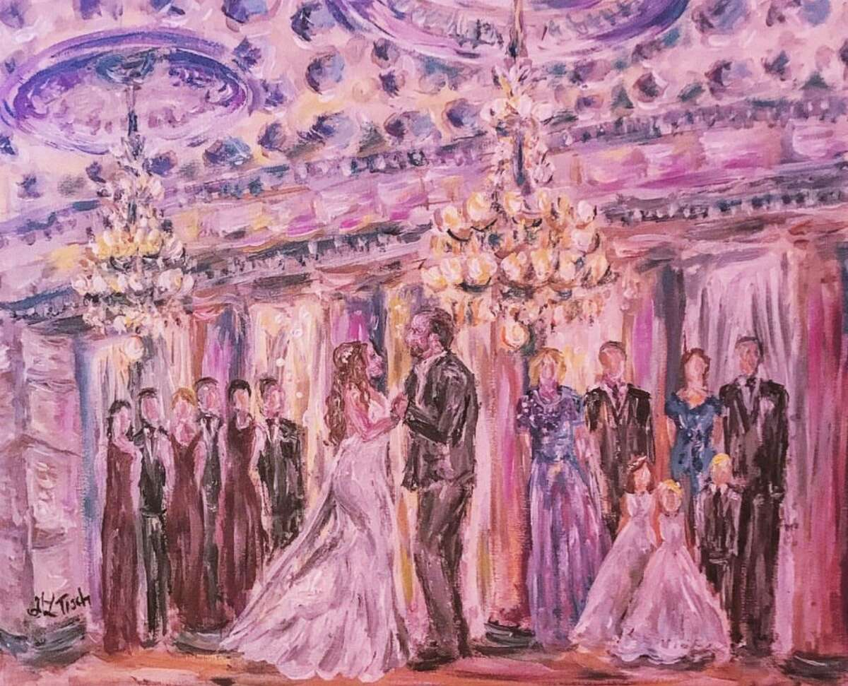 A wedding painting done by Gretchen Tisch, at the Hall of Springs in the Saratoga Spa State Park. (Provided)