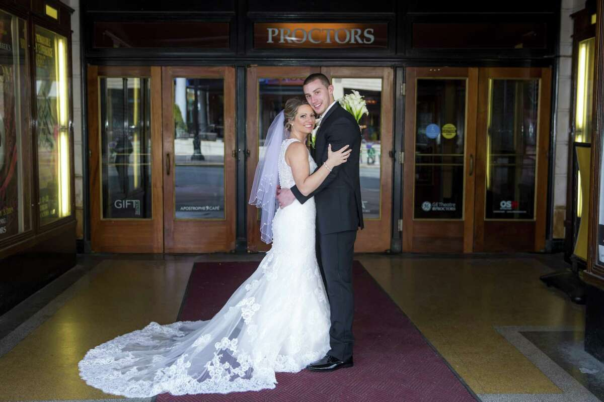 Images from Jen and Corey Wachunas' wedding at Key Hall in Proctors in Schenectady. (Photos by Caitlin Miller Photography)