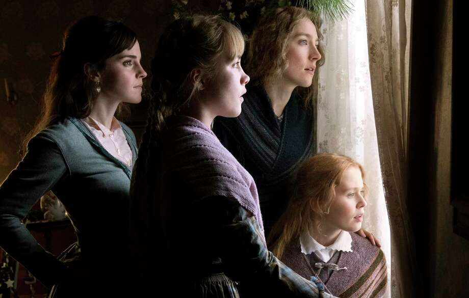 """This image released by Sony Pictures shows, Emma Watson, from left, Florence Pugh, Saoirse Ronan and Eliza Scanlen in a scene from """"Little Women."""" (Wilson Webb/Sony Pictures via AP) Photo: Wilson Webb, HONS / Associated Press / © 2019 CTMG, Inc. All Rights Reserved."""