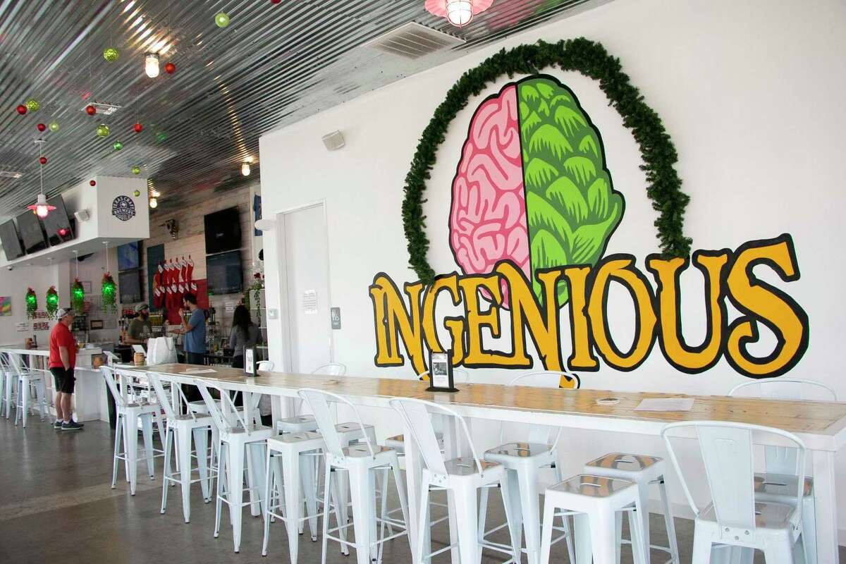 Ingenious Brewery is a Humble small-batch brewery offering monthly flavors on tap or for sale in 16-ounce cans or 32-ounce crowlers.