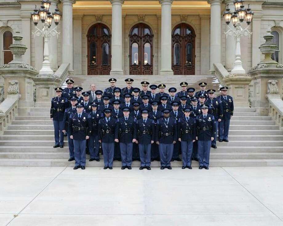 Twenty new Michigan State Police (MSP) motor carrier officers will begin work next week following the graduation of the 24th Motor Carrier Officer Recruit School. (Courtesy Photo)