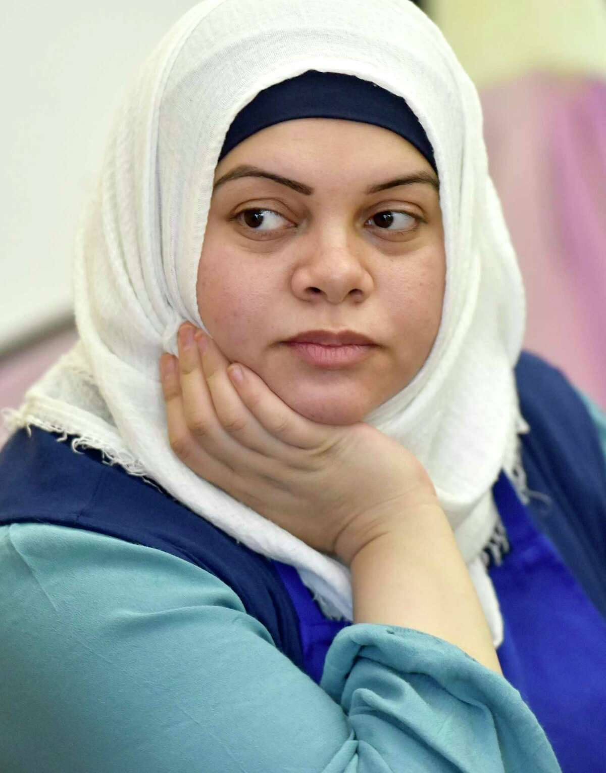 Sanctuary Kitchen at City Seed Chef Safaa Yousif, 30, shown in this photo taken Oct. 9, is a refugee from Hama Syria. In 2013 she fled to Turkey with her husband and daughter. After 3-years in Turkey, she resettled in New Haven.