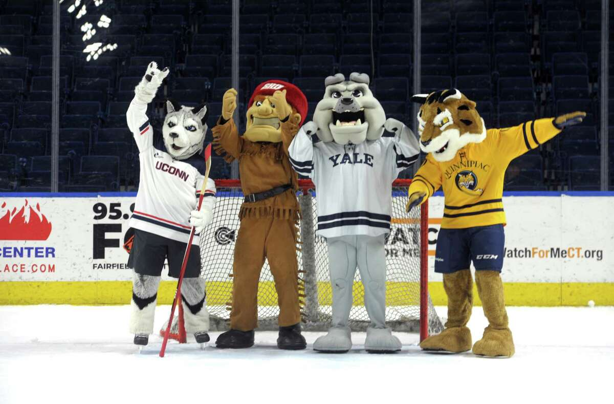 The SNY Connecticut Ice: Collegiate Hockey Tournament pits UConn, Quinnipiac, Sacred Heart, and Yale against one another for a shot at Connecticut ice hockey supremacy at the Webster Bank Arena on Saturday and Sunday. Find out more.