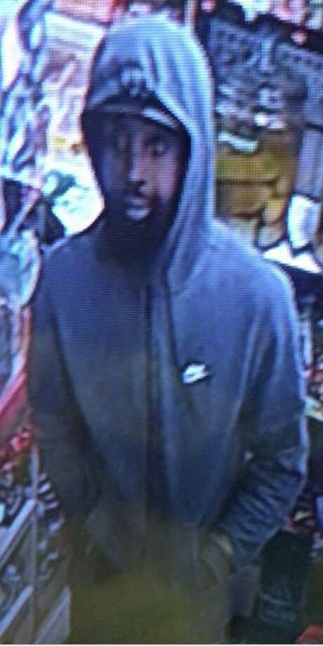 Police are seeking two suspects in connection to a Saturday armed robbery in Collinsville. The first man is described as being of thin build with beard, wearing a ball cap, a gray Nike hoodie with white swoosh and logo, gray pants and black and white shoes.