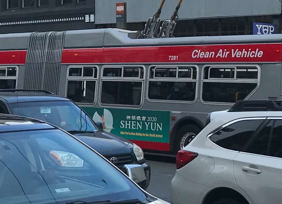 Shen Yun ads are practically everywhere you look in fall and winter in San Francisco. Photo: Cole Chapman
