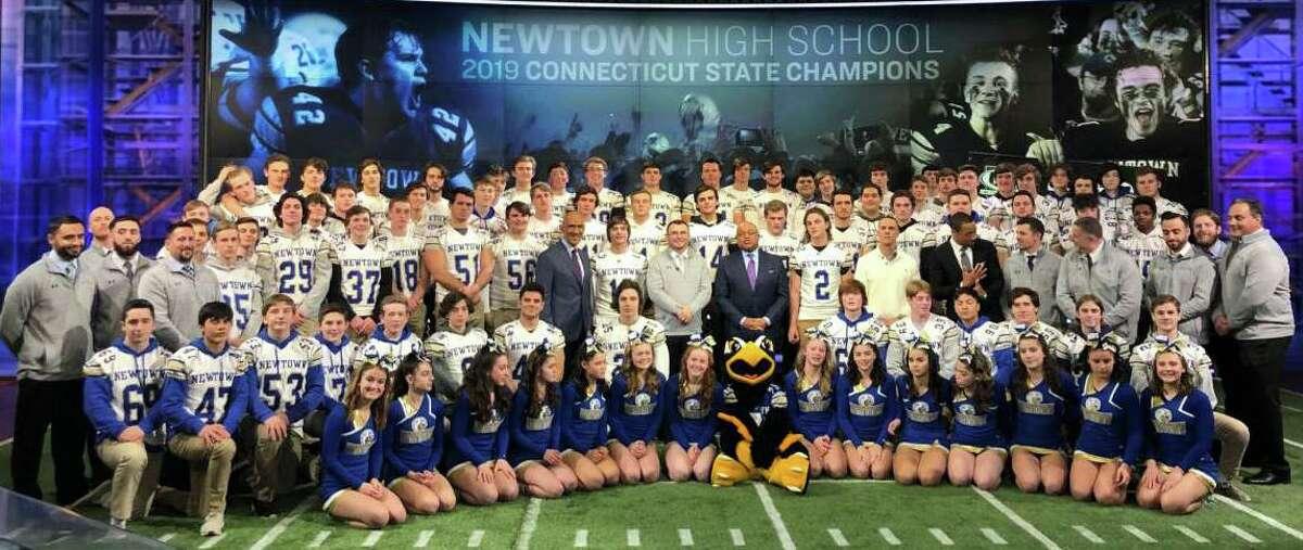 Newtown High School's state championship football team.