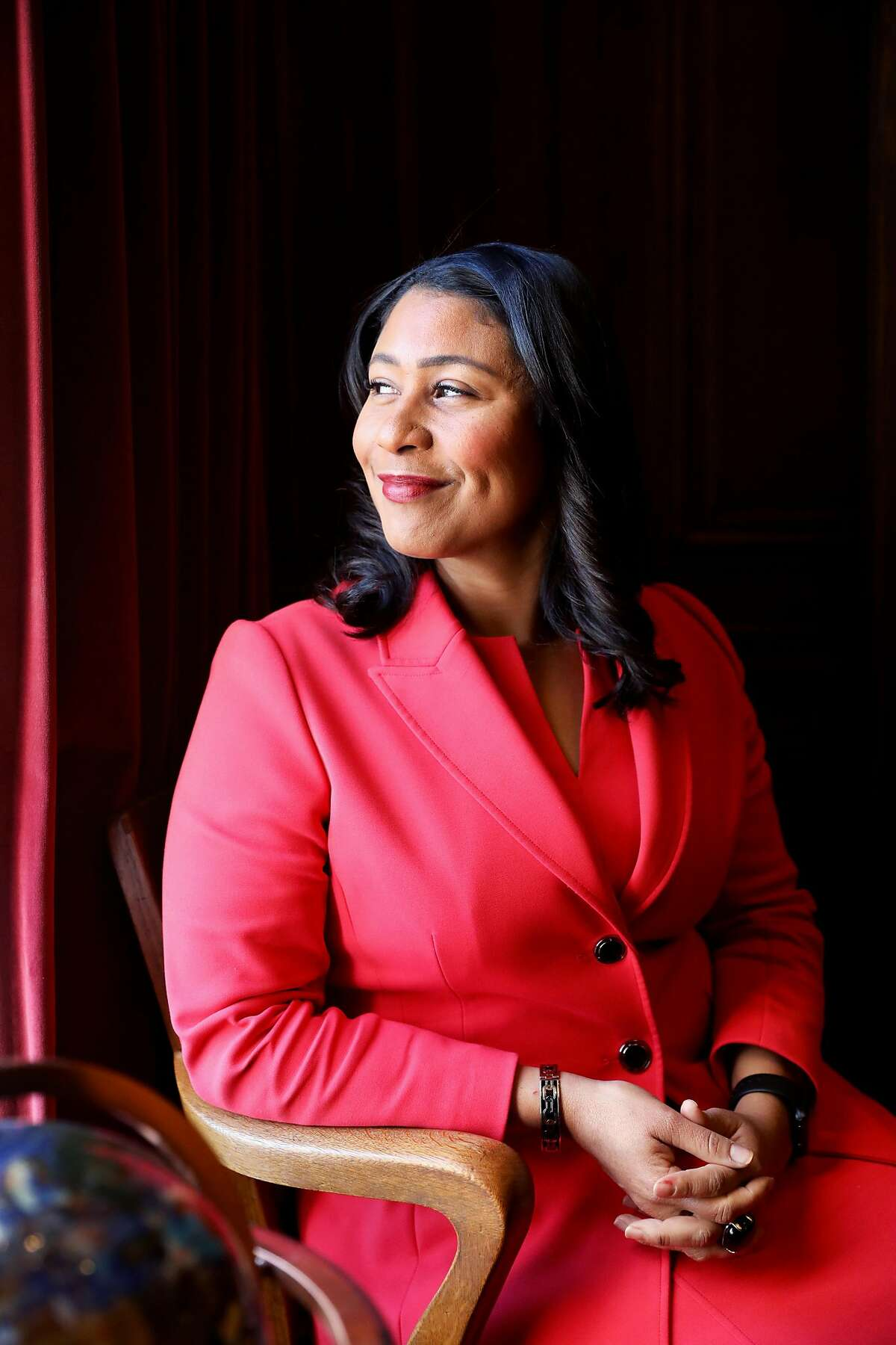 Mayor London Breed poses for a portrait in a conference room at City Hall in San Francisco, Calif., onTuesday, February 5, 2019.