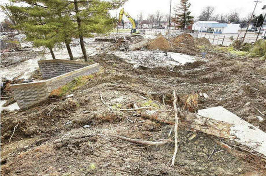 John Badman | The Telegraph A new recreation center could be in the future of the former Wood River Aquatic Center property, seen here last December, from about where the water slide platform used to stand and looking toward the south.