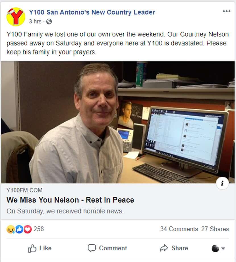 San Antonio radio DJ Courtney Nelson died in a motorcycle crash Saturday, Cox Media Group confirmed Monday. Photo: Y100 Facebook Page