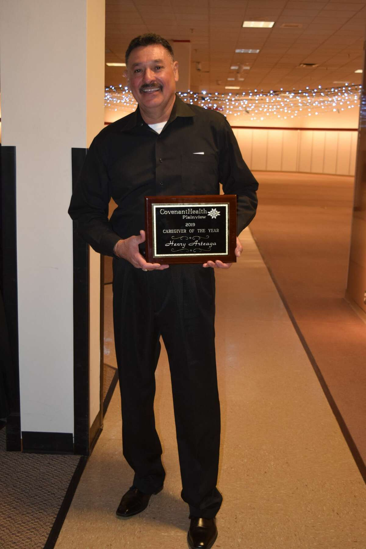 Henry Arteaga was one of two individuals named a 2019 Caregiver of the Year for Covenant Health Plainview.