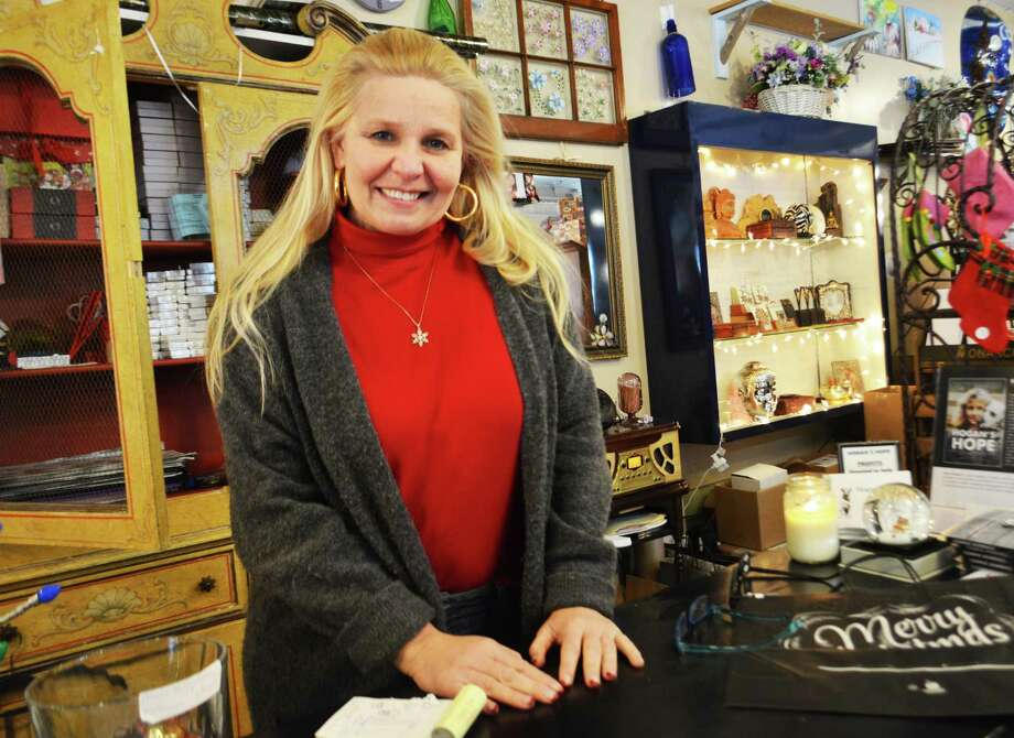 Melissa Gionfriddo of Meriden has ownedTesoro Artisan Gift Boutique & Gallery at 630 Main St., Middletown, for 14 years. She offers an eclectic array of items from local and area artisans, such as soaps, candles, knitted items, clothing, jewelry, bags, purses and more. Photo: Cassandra Day / Hearst Connecticut Media