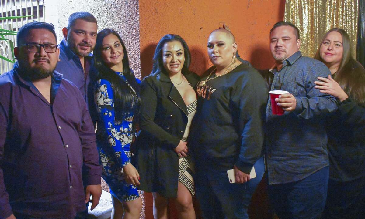 Fans, Family and Friends of La Gordiloca celebrate her birthday with a party at Ovidios Salon.