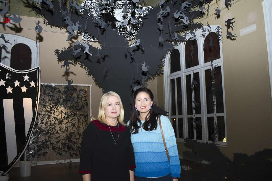 Creative minds gathered at the Laredo Center for the Arts for the Late 'Til 8 Art Show. Photo: Diana Garro