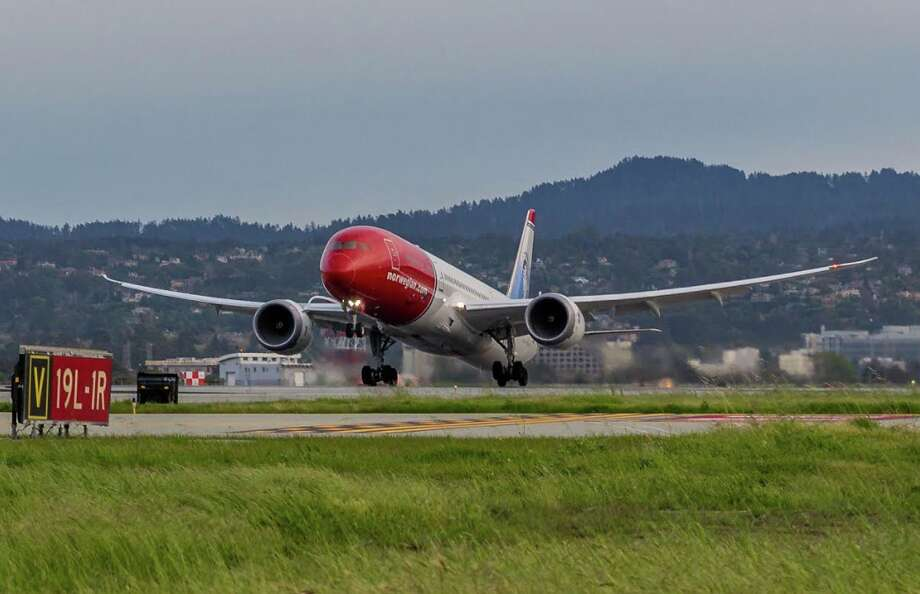 Norwegian Air's Boeing 787 Dreamliners will become a much more common sight at SFO now that the carrier is consolidating its Bay Area operations there. Photo: Jeff Del Rio / SFO