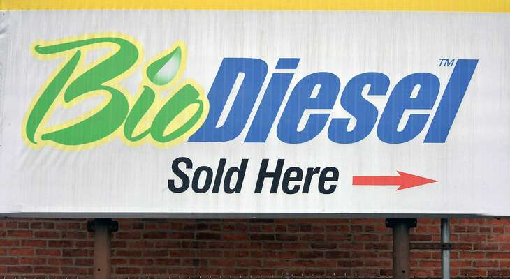 BioDiesel sign at John Ray & Son Tuesday Dec. 15, 2015 in Troy, NY.  (John Carl D'Annibale / Times Union)