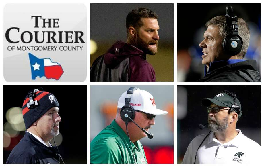 Magnolia's Craig Martin, New Caney's Brady Pennington, Porter's Jim Holley, The Woodlands' Jim Rapp and TWCA's Randy Hollas are The Courier's nominees for Coach of the Year. Photo: Staff Photos