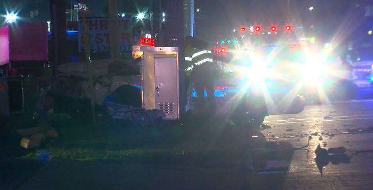 Pasadena Police Department officer was taken to the hospital after a crash involving a cruiser Monday night.