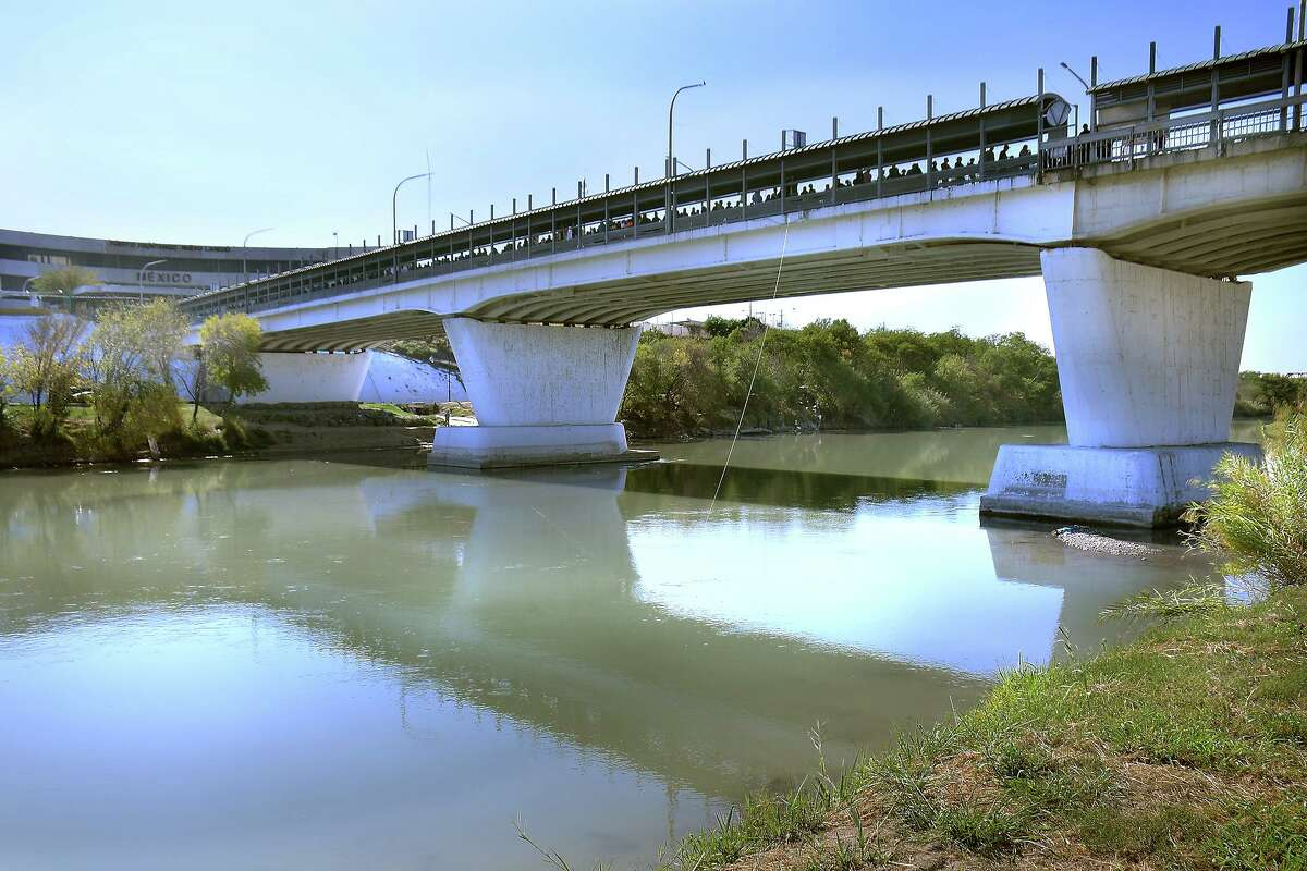 A view of the Rio Grande below the Gateway to the Americas International Bridge is seen on Dec. 7, 2019 near Tres Laredos Park.