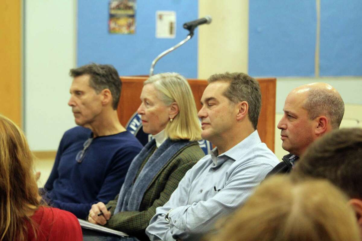 Members of the Board of Finance attended the BOE meeting on Monday for preliminary budget discussions. Taken Dec. 16, 2019 in Westport, Conn.