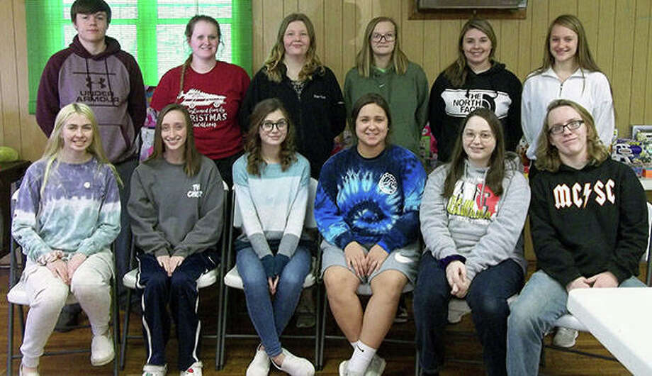 Members of the Meredosia-Chambersburg High School Student Council helped organize toys that were donated for Friday's giveaway in Meredosia. Photo: Shirley Bilyeu | Journal-Courier