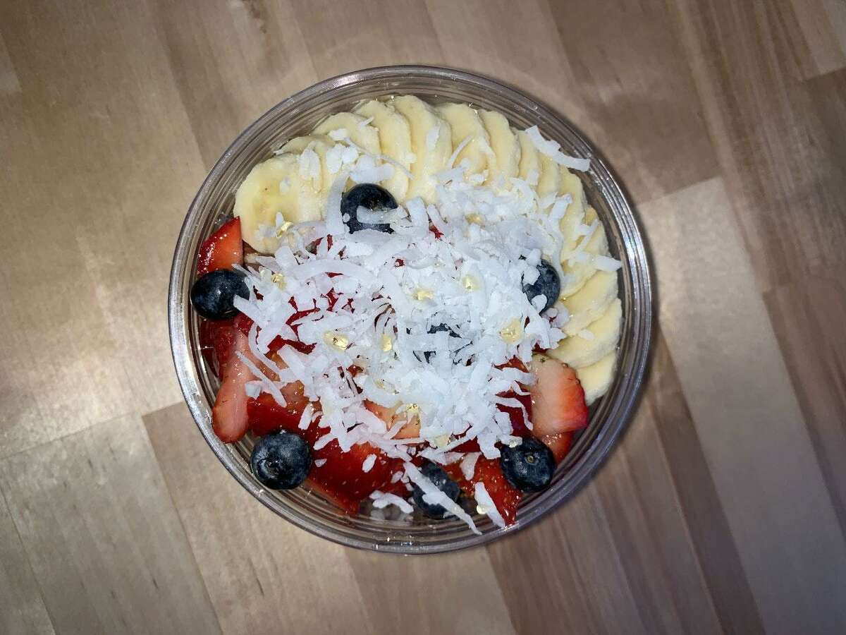 Açai bowls featuring the açai berry, strawberries, bananas, blueberries and coconut, layered with granola, are being featured at SoBol, a new eatery in Wilton at 5 River Road.