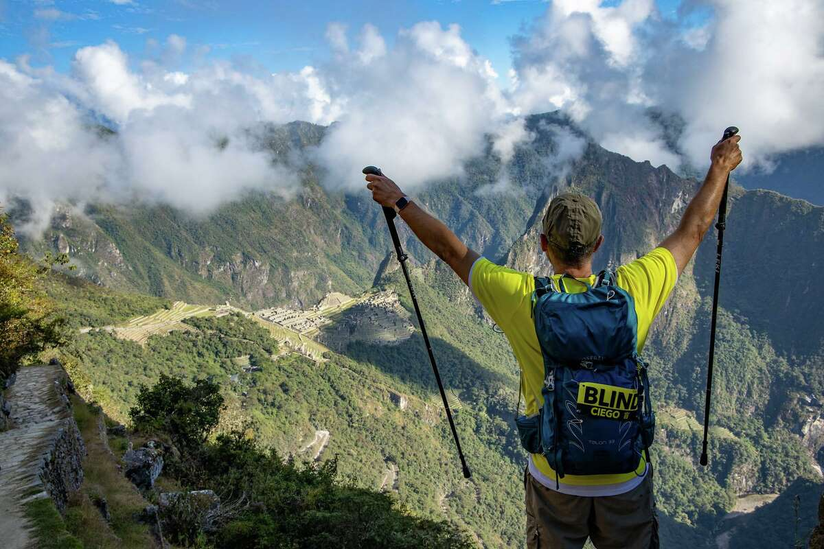 Houston man Michael McCulloch hiked Machu Picchu with the help of three guides because he is blind. He's a retired NASA engineer and lost most of his eyesight later in life due to degenerative glaucoma.