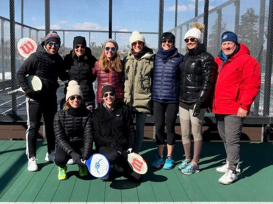 Paddle tennis is one of the winter programs offered to youth and adults by Darien's Parks & Recreation Department. Photo: Contributed
