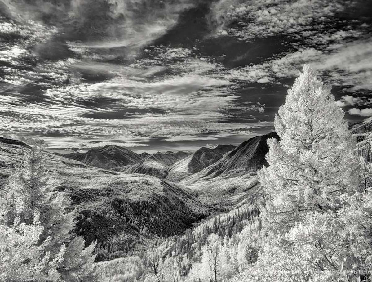 Ralph Baskin's digital infrared photo is made with a camera to capture only the infrared light spectrum which is not visible to the human eye.