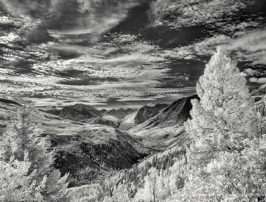 Ralph Baskin's digital infrared photo is made with a camera to capture only the infrared light spectrum which is not visible to the human eye. Photo: Ralph Baskin