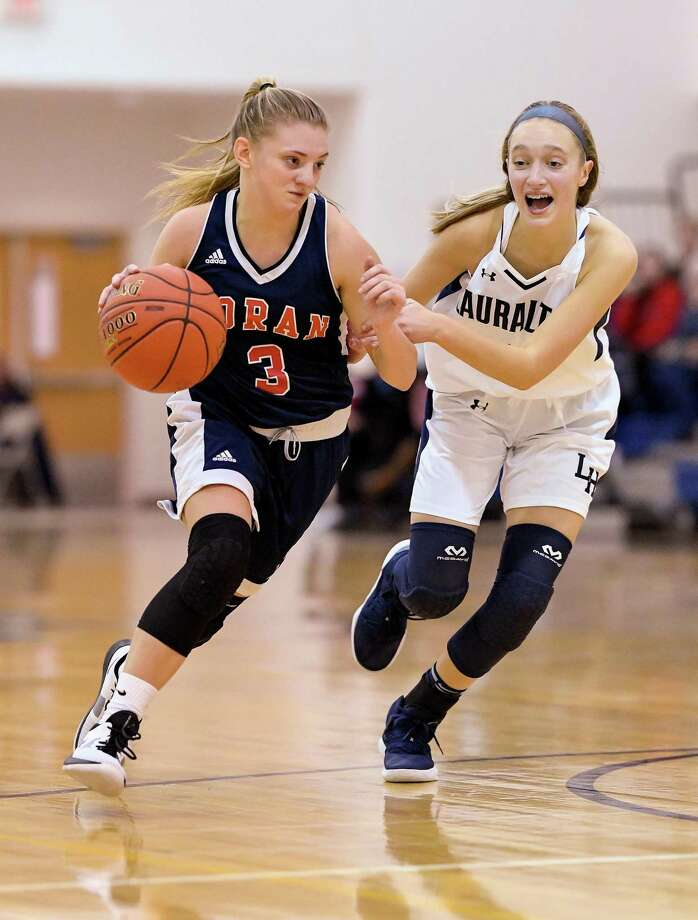 Lauren Heenan brings experience to the Lions' backcourt. Photo: David G Whitham / For Hearst Connecticut Media / DGWPhotography