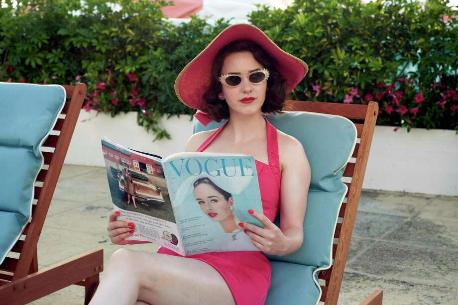 """This image released by Amazon Studios shows Rachel Brosnahan in a scene from """"The Marvelous Mrs. Maisel."""" Season three premieres on Friday on Amazon Prime. Photo: Nicole Rivelli / AP / nicole rivelli photographie"""