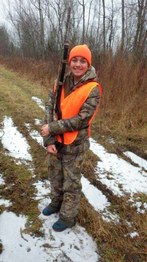 Makayla Hennessey, 13, of Cass City, had agreat time with her semi-automatic 20-gauge shotgun during the Thumb PF youthpheasant hunt on the Rooster Ranch near Ubly.Hennesseyalso enjoys deer hunting with her father, Bill Hennessey.She startedhunting at age 8 and has harvestedthree Thumb bucks using a .44magnum rifle. (Tom Lounsbury/Hearst Michigan)