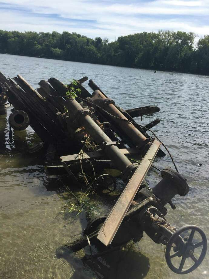 The Connecticut River Conservancy received help from Goodwin College staff during the remediation of an abandoned fuel tank along the banks of the river in East Hartford. Photo: Contributed Photo