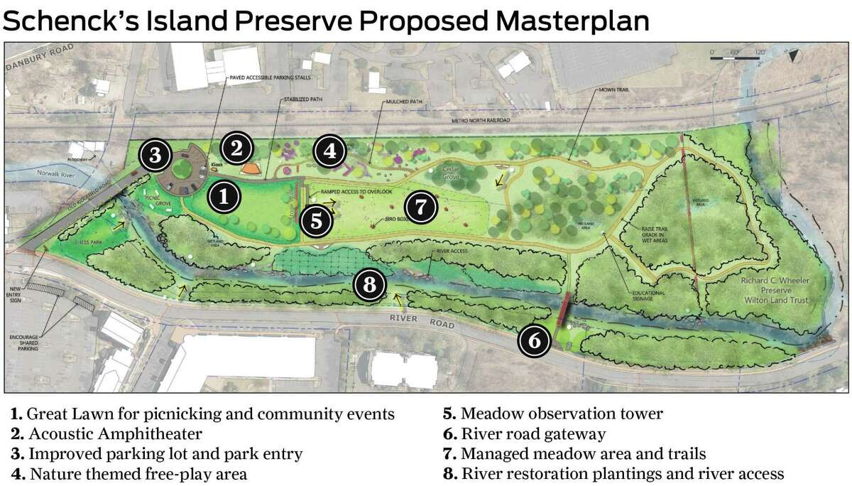 The Schenck's Island/Merwin Meadows (SIMM) Committee has approved a number of improvements for Schenck's Island in Wilton.