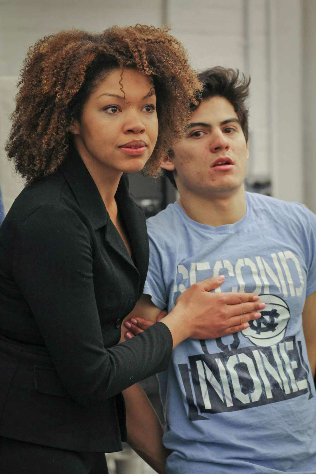 Bradley Tejeda, pictured with cast member Chalia La Tour, received his master's degree from Yale University, where he appeared in Yale Cabaret's production of