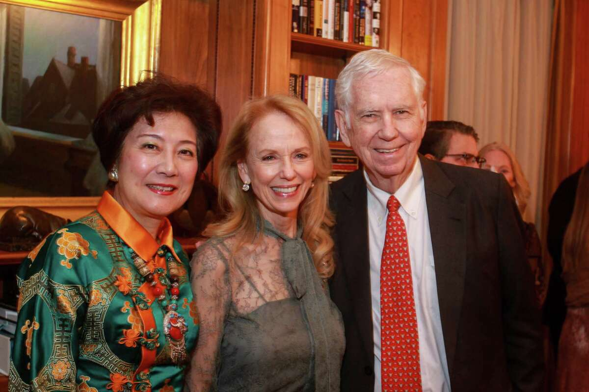 Lily Foster, from left, Susan Sarofim and Charles Foster at the Barbara Bush Literacy Foundation's, A Celebration of Reading's Author Announcement Party on December 12, 2019.