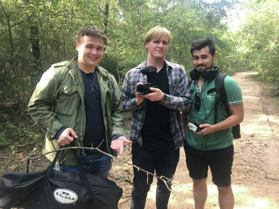 "Alec White, left, Gabriel Theis and Lucio Vasquez recently completed their feature-length thriller ""The Curse of Professor Zardonicus,"" which they hope will propel them into professional careers. Photo: Courtesy"