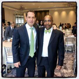 Tipping Point founder Daniel Lurie (left) with new Tipping Point CEO Sam Cobbs. Dec. 13, 2019.
