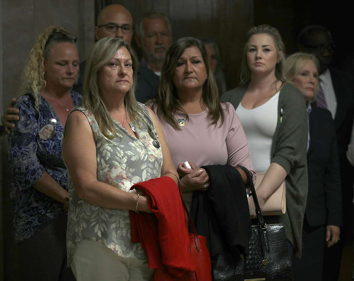 Family of some of the victims of ghost ship didn't want to comment but wanted their presence shown after they attended the hearing of defendants Derick Almena and Max Harris's at Rene C. Davidson Courthouse with Judge Morris Jacobson with on Tuesday, July 3, 2018, in Oakland, Calif.