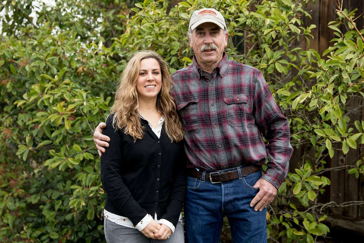 Elkhorn Peak Cellars owners and father-daughter pair Ken Nerlove and Elise Nerlove pose for a portrait in Napa, Calif. Wednesday, Dec. 11, 2019.